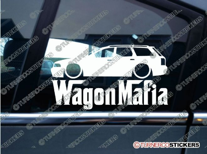 LOW Audi RS4 / A4 B5 WAGON MAFIA ' Lowered car sticker , Decal